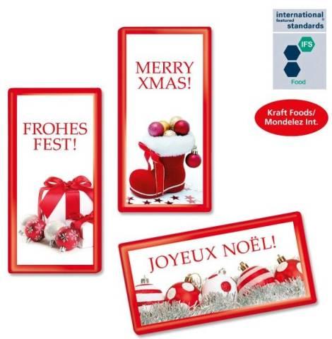 MAXI-Schokoladentäfelchen Weihnachten