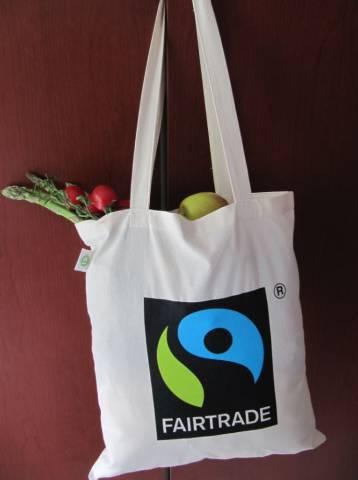 Bio Baumwolltasche Fairtrade lange Henkel 155g/m2