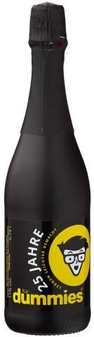 Sektflasche schwarz 750ml
