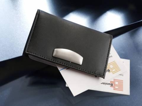 Kreditkartenmäppchen Laser Line Leder