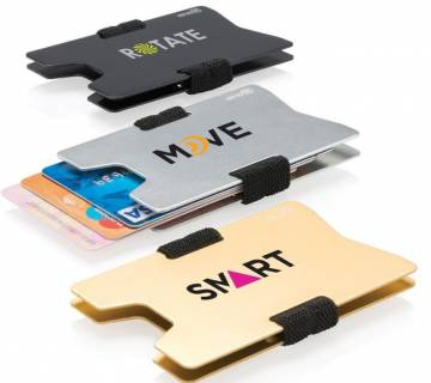 RFID Anti Skimming Kartenhalter Aluminium Silber