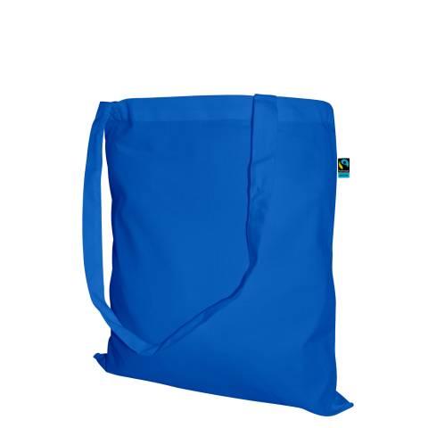 Fairtrade Baumwolltasche 34x42 lange Henkel Royal Blau