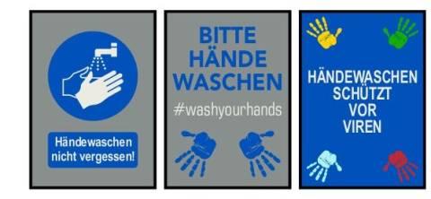 Matte - Bitte Hände waschen