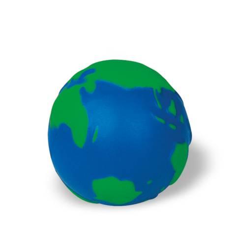 Anti-Stress-Ball Globus blau/grün Mondo