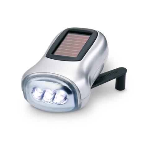 Dynamo Taschenlampe silber matt Dynasol