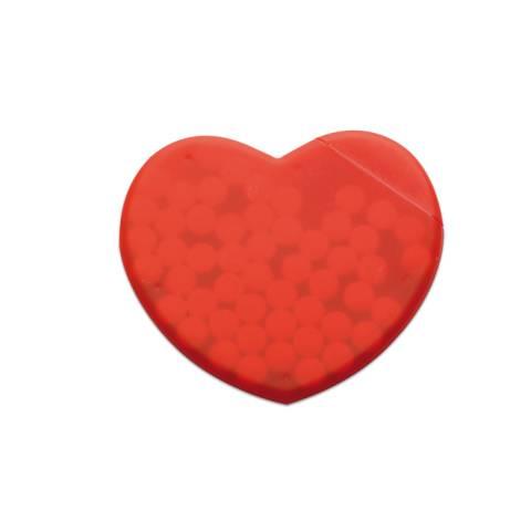 Pfefferminzspender Herz rot Coramint