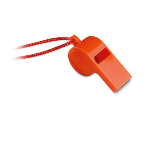 Trillerpfeife mit Band orange Referee