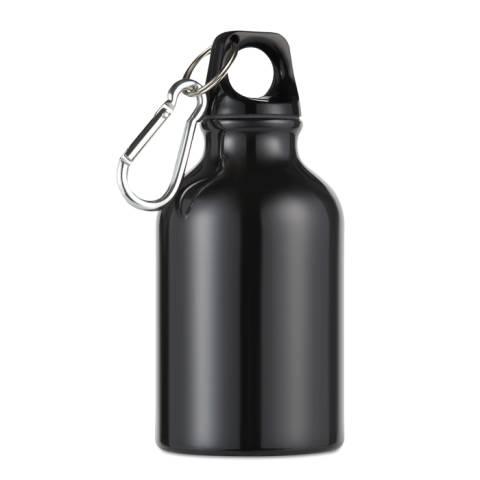 Trinkflasche schwarz Moss