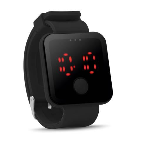 LED Armbanduhr schwarz Redtime