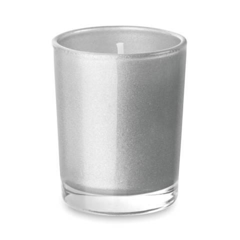 Duftkerze im Glas silber matt Selight