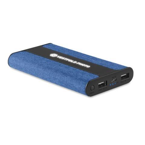 Powerbank 6000 mAh Textil blau POWERFABRIC