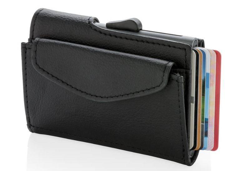 41972f2a5349a C-Secur RFID Kartenhalter Portemonnaie mit Münzfach schwarz