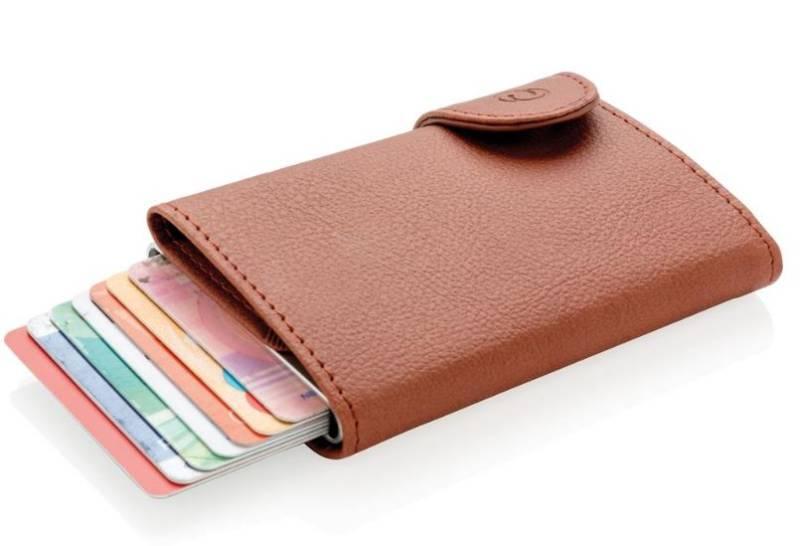 ce9fc027813a1 C-Secure RFID Kartenhalter Portemonnaie Geldbörse braun