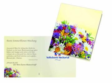 Klappkärtchen bunte Blumenwelt, Blumenmischung-amen, 1-4 c Digit