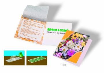Saatteppich Klappkärtchen, Blumenmischung, 1-4 c Digitaldruck in