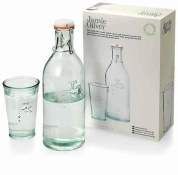 Recyceltes Glas-Set