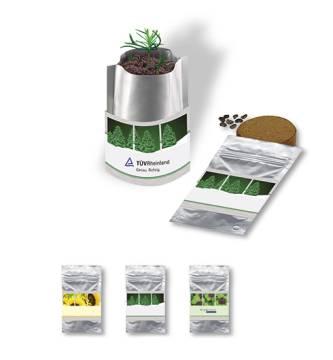 Plant Bag \Sonne\, Zwergsonnenblume, 1-4 c Digitaldruck inklus