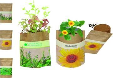 Natur Bag Sonne, Zwergsonnenblumen, 1-4 c Digitaldruck inklusive