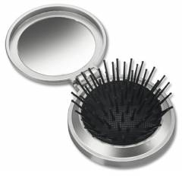 Ausklappbare Haarbürste mit Spiegel