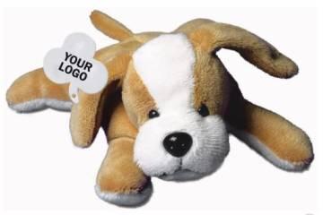 Plüschtier Werbeartikel Beanbag Hund