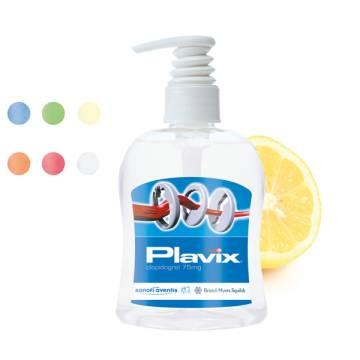 300 ml PET Spender, transp. - Handreinigungsgel antibakteriell -