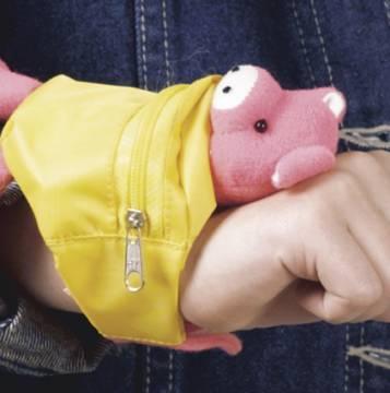 Handgelenkbörse mit Tiermotiven