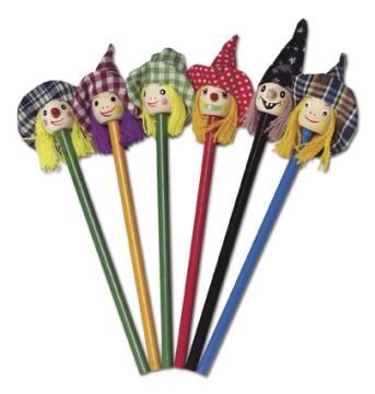Bleistifte mit Hexen-Köpfen