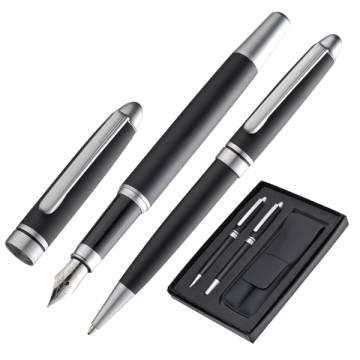 Set mit Metall Kugelschreiber u. Füller