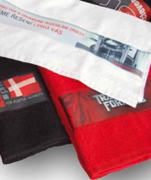 Handtuch mit Druck in Bordüre