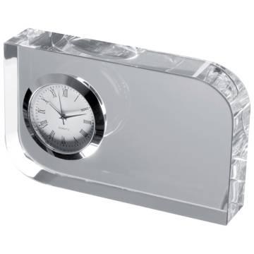 Glasblock mit Uhr