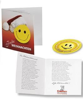 Weihnachtskarte Zucker, 1-4 c Digitaldruck inklusive, ohne Kuver