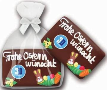 Honig Osterbrot Schokolcard