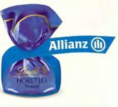 Lindt Fioretto mit Logo-Fähnchen