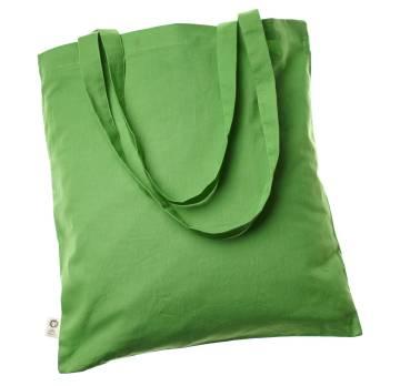 Bio Baumwolltasche Fairtrade lange Henkel grün 140 g/m2