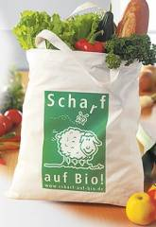 Baumwolltasche Bio Fairtrade 30 cm Henkel