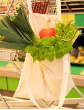 Bio Baumwolltasche Fairtrade lange Henkel 155 g/m2