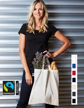 Bio Baumwolltasche Fairtrade kurze Henkel 155 g/m2 7 Farben