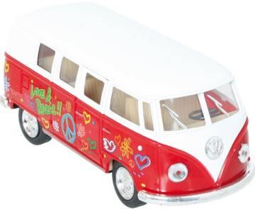 VW Bus Modellauto Love & Peace