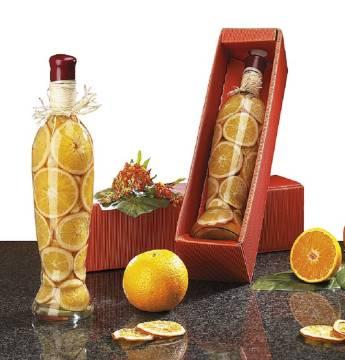 Orangen Flasche