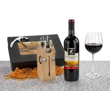 Buche Block mit Wein