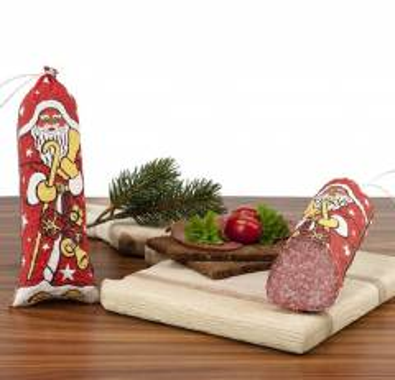Weihnachtsmann Salami