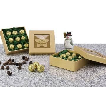 Goldene Trüffel-Schachtel