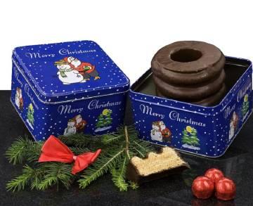Baumkuchen in Weihnachtsdose