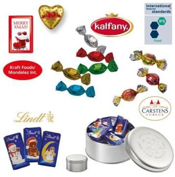 Präsentdose klein Weihnachten  Alpenmilchschokoladen-Naps
