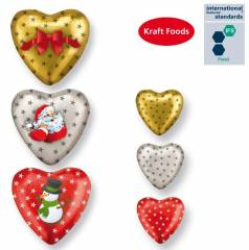 Schokoladenherzen Vollmilch Weihnachten