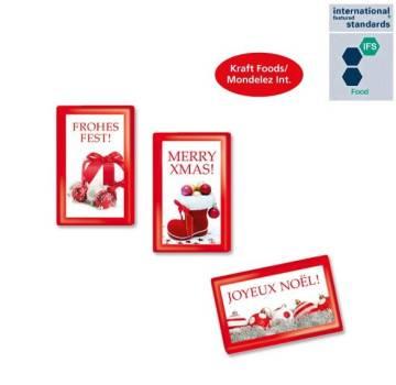 MINI-Schokoladentäfelchen Weihnachten