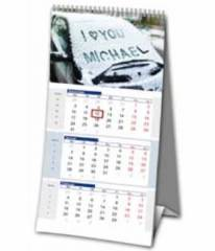 Namenskalender als 3-Monats Tischkalender