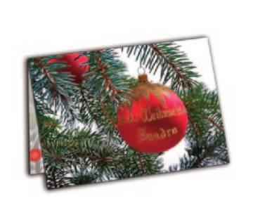 Weihnachtskarten bedrucken