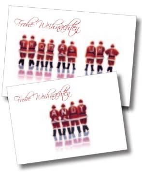 Weihnachtskarten mit Eindruck
