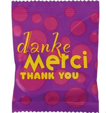 Fruchtgummi Danke Mehrsprachig